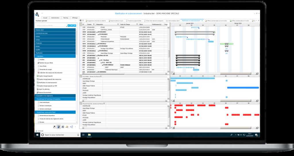 ERP Industria - Planification et ordonnancement de la production des affaires