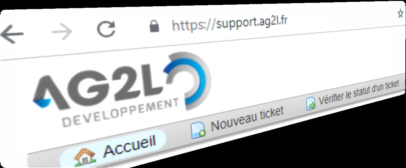 Header de l'article Support client d'AG2L pour l'assistance à l'utilisation du logiciel de GPAO Industria