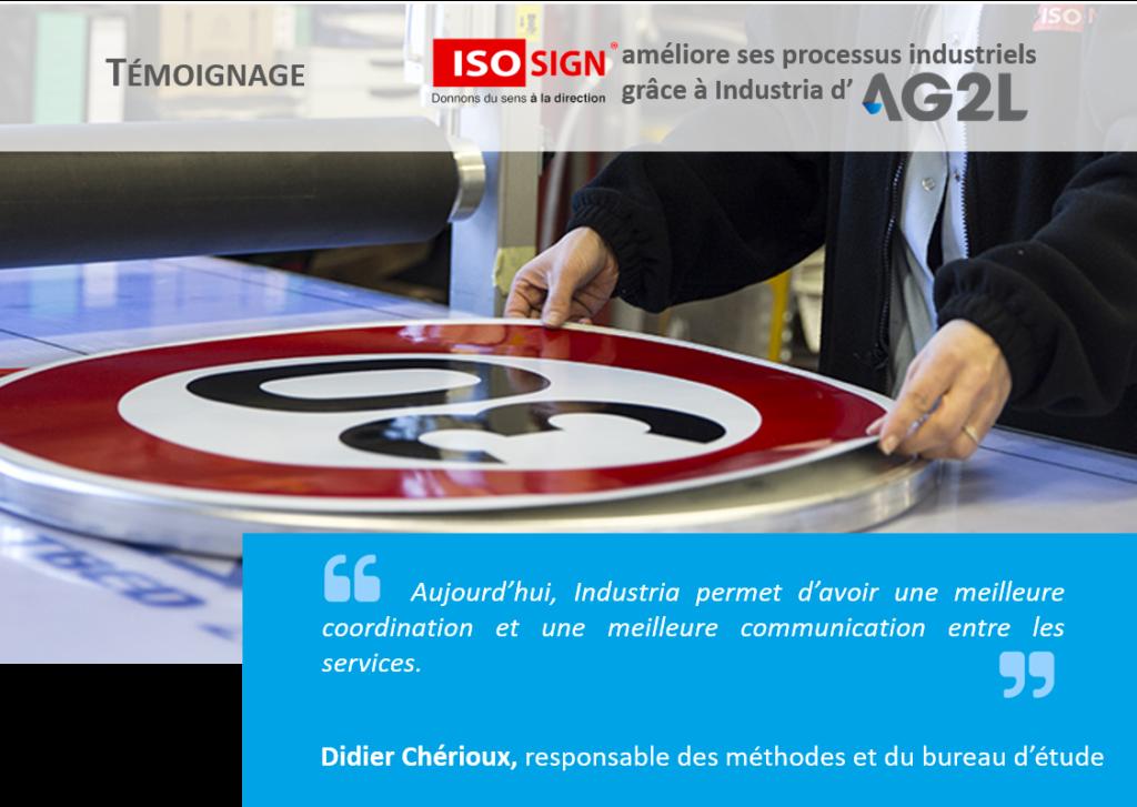 ISOSIGN améliore ses processus industriels grâce à l'ERP Industria d'AG2L